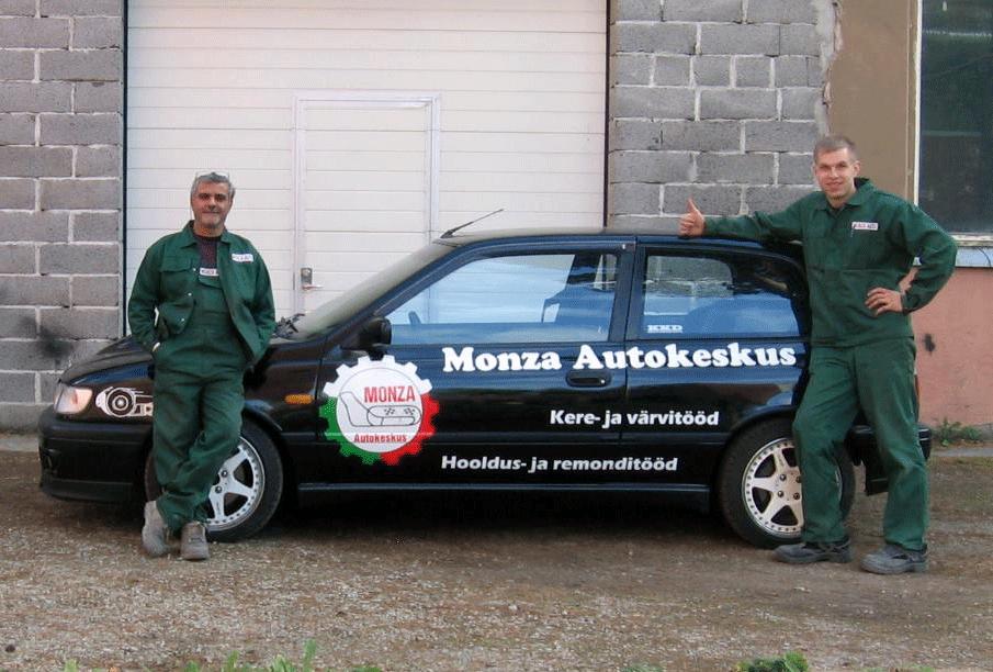 monza-auto-firmast kere-ja värvitööd
